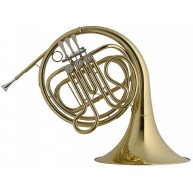 Stagg WS-HR245 Series Single French Horn Clear Lacquer Fixed Bell - Set Up