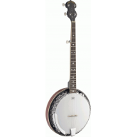 Lucky Penny Model B5-DL Deluxe 5 String Closed Back Resonator Banjo w/ Remo