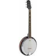 Lucky Penny B5-6 6-String Banjo Guitar, Closed Back Banjitar with Remo Head