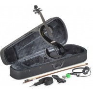 Lucky Penny EVN/BK Black Electric Violin Package W/Case, Headphones and Mor