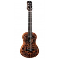Luna UKE TRIBAL 6 All Mahogany 6-String Baritone Size Acoustic Guitar Ukule