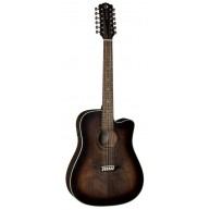 Luna Art Vintage Dreadnought 12 String Solid Top Acoustic Electric Guitar