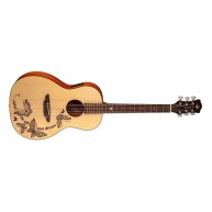 Luna GYP DREAM Gypsy Dream Acoustic Electric Parlor Size Spruce Top Guitar