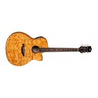 Luna GYP E QA GN Gypsy Quilt Ash Grand Concert Acoustic Electric Guitar
