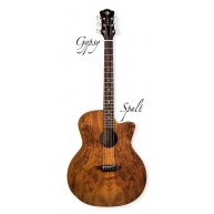 Luna Grand Auditorium Gypsy Exotic Spalted Top Gloss Acoustic Guitar GYP SP