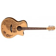 Luna Model HEN OA SPR Henna Oasis Acoustic Electric Folk Size Cutaway Guita