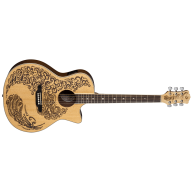 Luna HEN PA SPR Henna Paradise Select Spruce Acoustic Electric Cutaway Guit