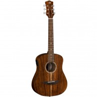 Luna Safari Koa Supreme Solid Koa Top Acoustic Electric Cutaway Guitar