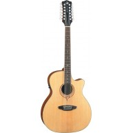 Luna SONG 12 Acoustic Electric Heartsong Grand Concert 12-String Guitar w/U