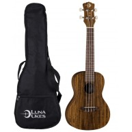 Luna Model UKE ACS Flamed Acacia Soprano Size Acoustic Ukulele with Gig Bag