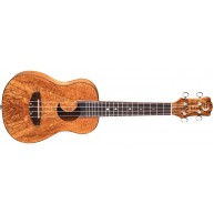 Luna Exotic Mahogany Spalted Maple Acoustic Concert Ukulele w/Bag UKE EX SM