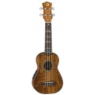 Luna High Tide Soprano Size Koa Wood Acoustic Electric Ukulele with Gig Bag