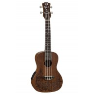 Luna Lizard Mahogany Concert Size Acoustic Electric Ukulele with Gig Bag