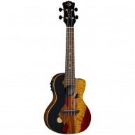 Luna Guitars Vista Wolf Tropical Wood Concert Acoustic-Electric Ukulele Glo