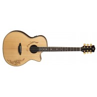 Luna VG SIG Vicki Genfan Signature Henna Acoustic Electric Guitar, Solid To