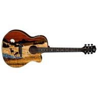 Luna Guitars Vista Deer Koa Body Acoustic Electric Guitar w/Case - NEW