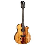 Luna Vista Eagle 12 String  Tropical Wood Acoustic Electric Guitar w/Hard C