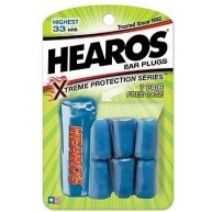 Hearos Extreme Protection series 33 NRR earplugs - 7 Pairs plus Free Case