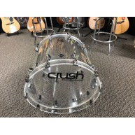 "Crush Drums Clear Acrylic 22x18"" Bass Drum from A2C428C-C Shell Pack - #N15"