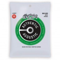 Martin Authentic Silked Acoustic Guitar Strings Light Gauge 12-54 Model MA1