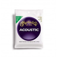 Martin M170 80/20 Bronze Acoustic Guitar Strings, Extra Light - 3 Pack