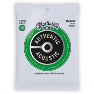 Martin Authentic Silked Acoustic Guitar Strings Extra Light Gauge 10-47 # M