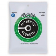Martin Authentic Silked Acoustic Guitar Strings Medium Gauge 13-56 Model MA