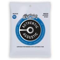 Martin Authentic Acoustic Phosphor Bronze Guitar Strings Medium Ga 13-56 #M