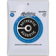 Martin MA150PK3 3 Sets of MA150 Medium Acoustic Guitar Strings 80/20 Bronze