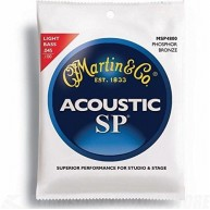 Martin Model MSP4800 92/80 Bronze Acoustic Light Bass Strings .045-.100