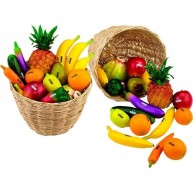 Nino 36-Piece Fruit and Vegetable Shakers in Basket 36 Pieces Various Color