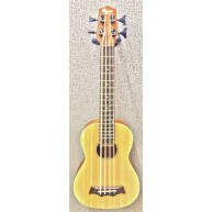 Ohana BKB-22E Acoustic Electric 4-String Solid Spruce Top Ukulele Bass - NE
