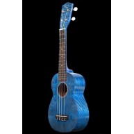 Ohana Model SK-15W BL Blue Soprano Size All Willow Wood Ukulele - FREE Gig