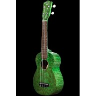 Ohana Model SK-15W GN Green Soprano Size All Willow Wood Ukulele -FREE Gig