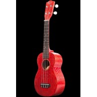 Ohana Model SK-15W RD Red Soprano Size All Willow Wood Ukulele  - FREE Gig