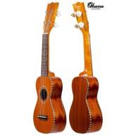 """Ohana """"Pequeno"""" Sopranino Size Nunes Vintage Style All Solid Ukulele w/ Gig"""