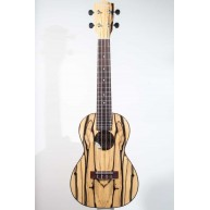Ohana CK-15BWE Exotic Black & White Ebony Concert Gloss Ukulele with Gig Ba