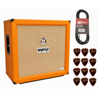 Orange CRPRO412 4x12 Crush Pro 240 W Speaker Cabinet, Cable Fender Picks Bu