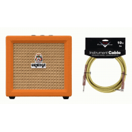 Orange Crush Mini 3 Watt Combo Guitar Amplifier w/ Fender Cable BUNDLE