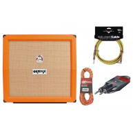 Orange PPC412A Angled 240 Watt Speaker Cabinet Fender Cable Bundle