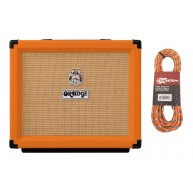 Orange Rocker 15 Tube 2 Channel 1x10 15 Watt Guitar Amplifier, Cable Bundle