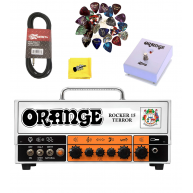 Orange Rocker 15 Tube Terror Amplifier Bundle with Footswitch, Cable, and M