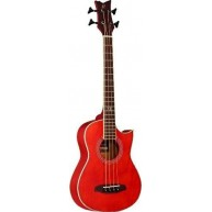 Ortega D-WALKER-RD Deep Series Red Extra Short Scale Acoustic Bass - Blem #