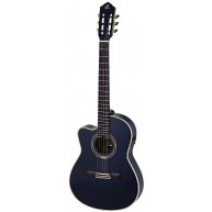Ortega RCE1384BK-L Black Pro Lefty Electric/Acou Classical Guitar  - Blem #