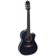 Ortega RCE138T4BK Black Slim Neck Electric/Acoustic Classical Guitar -Blem