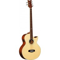 Ortega Acoustic Electric 5-String Bass, Solid Spruce Top - NEW Discontinued