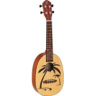 Ortega RUPA5 Natural Finish Concert Pineapple Size Spruce and Mahogany Ukul