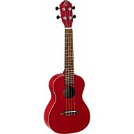 Ortega Earth Series RUFIRE Transparent Red Concert Size Okoume Wood Ukulele