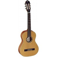 Ortega R122 1/2 Family Series Nylon String 1/2 Size Classical Guitar -Blem