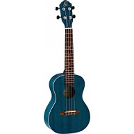 Ortega Earth Series RUOCEAN Transparent Blue Concert Size Okoume Wood Ukule